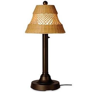 Patio Living Concepts Java 34 H Narrow Table Lamp with Bell Shade; Antique Honey