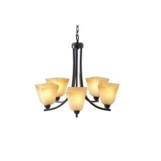 Sea Gull Lighting Parkfield 5 Light Flemish Bronze Single Tier Chandelier 3113005 845