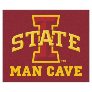 FANMATS Iowa State University Red Man Cave 5 ft. x 6 ft. Area Rug 14558