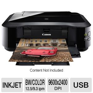 Canon PIXMA iP4920 Color Inkjet Printer   9.3 ipm Color, 12.5 ipm, Up to 9600 x 2400, Duplex, Hi Speed USB, PictBridge