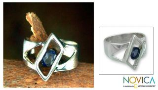 Sterling Silver In Balance Iolite Solitaire Ring (India)