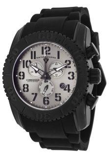 Commander Chronograph Black Silicone Grey Dial Black Titanium Case