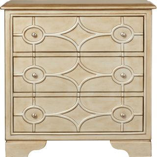 House of Hampton Benston Diamond Overlay 3 Drawer Chest