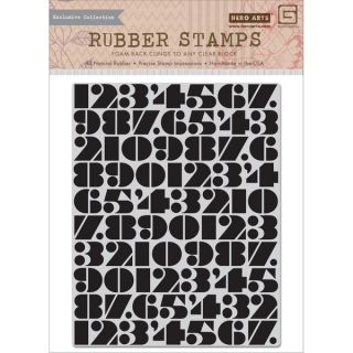 Basic Grey Capture Cling Stamps By Hero Arts Number Background