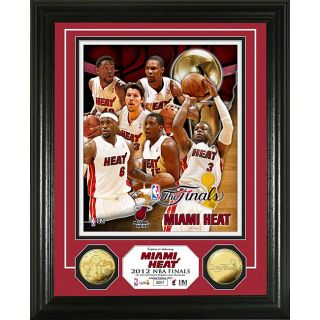 Miami Heat 2012 NBA Finals Team Force Gold Coin Photo Mint   14311470