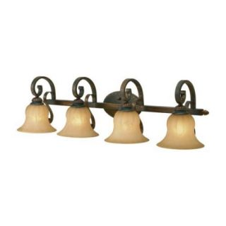 Golden Lighting 7116 BA4 Four Light Bathroom Fixture from the Mayfair Collection