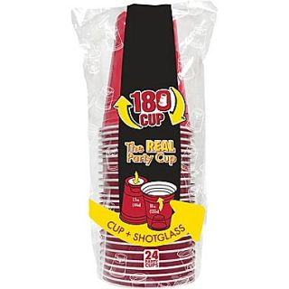 Shark Tank 180 Cups Red Multi Use Cups 24/Pack