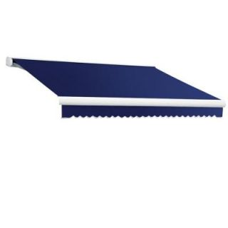 8 ft. Key West Full Cassette Right Motor Retractable Awning with Remote (84 in. Projection) in Navy KWR8 77 N