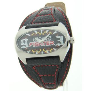 Mens Cage Fighter Genuine Leather Watch CF332008BSBK