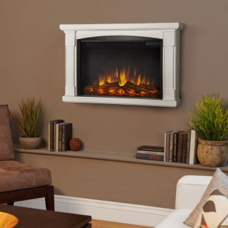 Real Flame Brighton White Electric Fireplace   Shopping