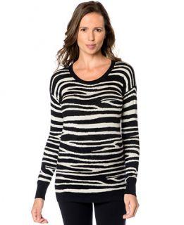 Pea In The Pod Maternity Animal Print Silk Cashmere Sweater
