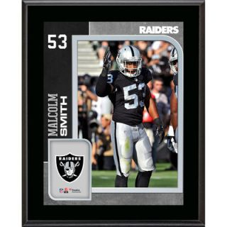 Malcolm Smith Oakland Raiders  Authentic 10.5 x 13 Sublimated Player Plaque