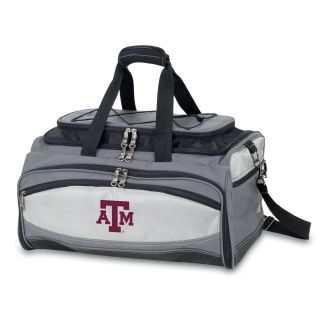 Picnic Time 750 00 175 562 0 Buccaneer Texas A and M Aggies Embroidered Cooler and Barbecue Set in Black