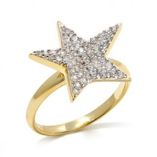 "Kristin Chenoweth ""From Above"" .67ctw CZ Pavé Star Ring   7911356"