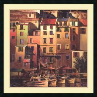 Michael OToole Mediterranean Gold Framed Art Print 34 x 34 inch