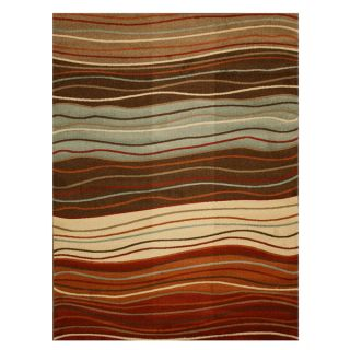 EORC Brown Waves Rug (53 x 73)   15946818   Shopping
