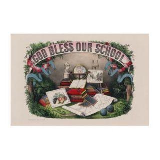 God Bless Our School Print (Unframed Paper Print 20x30)