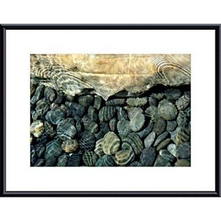 Printfinders Rock, Pebbles and Water by John K. Nakata Framed Photographic Print; Black