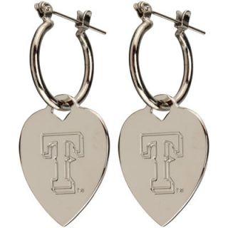Texas Rangers Heart Tag Earrings