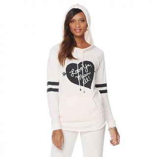 "Melissa McCarthy Seven7 ""Love Ya, Mean It"" Striped Sweatshirt   7838626"