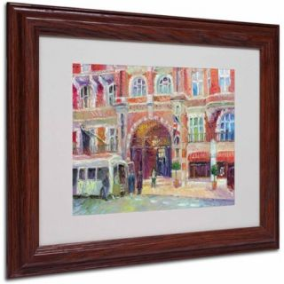 "Trademark Fine Art ""London"" by Richard Wallich, Wood Frame"