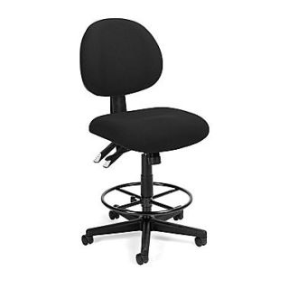 OFM™ Fabric 24 Hour Computer Task Stool, Black