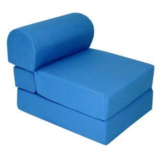 Elite Products Royal Blue Childrens Foam Sleeper Chair