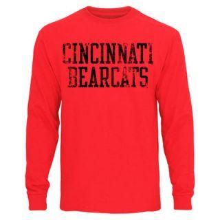 Cincinnati Bearcats Straight Out Long Sleeve T Shirt – Red