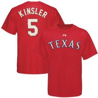 Majestic Texas Rangers #5 Ian Kinsler Red Players Big Sizes T shirt