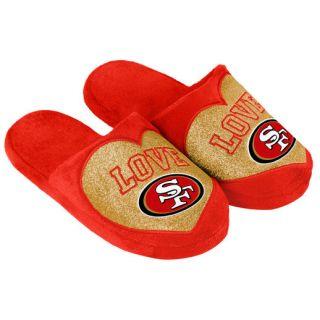 San Francisco 49ers Womens Love Glitter Slide Slippers