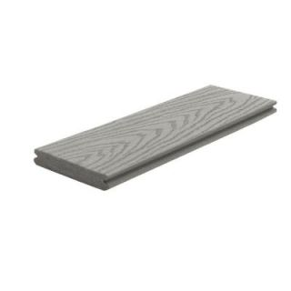 Trex Select 1 in. x 5 1/2 in. x 12 ft. Pebble Grey Grooved Edge Capped Composite Decking Board PG010612SG01