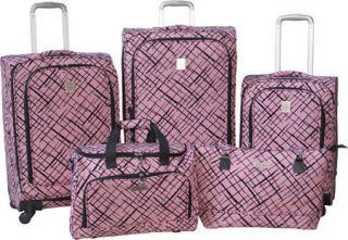 Jenni Chan Brush Strokes 360 Quattro 5 Piece Luggage Set