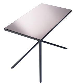 Illusion Coffee table   / H 65 cm Bronze Mirror   Legs : Black by Objekto