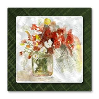 All My Walls Vase of Flowers by Stephanie Kriza Painting Print Plaque