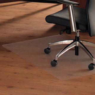 "Floortex ClearTex Ultimat Anti Slip Chair Mat for Hard Floors, 47"" x 35"", Clear"