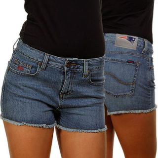 New England Patriots Ladies Tight End Jean Shorts