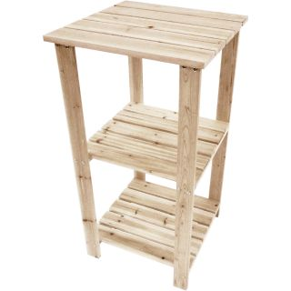 Stonegate Designs Fir Wood 3-Tier Wooden Side Table — Model# CSN-TTET-1009T1  End Tables
