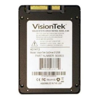 "Visiontek Go Drive 512 Gb 2.5"" Internal Solid State Drive   Sata   550 Mb/s Maximum Read Transfer Rate   325 Mb/s Maximum Write Transfer Rate (900803)"