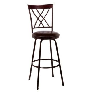 Hillsdale Furniture 5350 831 Northland Swivel Counter Bar Stool in Brown Cherry with Nested Leg