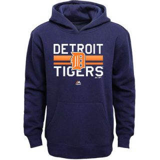 Detroit Tigers Youth Team Stripe Sweatshirt   Navy