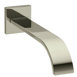 Rohl WA24 STN Wave Wall Mounted Bathtub Spout in Satin Nickel