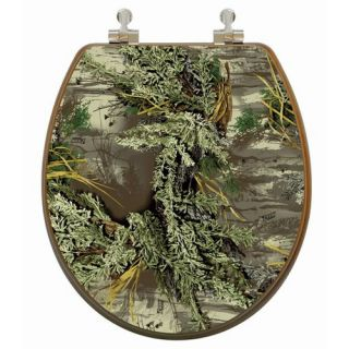 Topseat 6TSPR2159CP Realtree Camouflage (Max 1 Pattern) Round 3D Toilet Seat   Toilet Seats