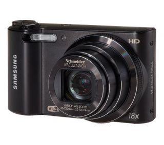 Samsung 14MP 18x Opt. Zoom WiFi Camera w/ 3.0 Screen, 4GB SD Card —