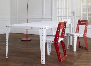 Table leg   / Set of 4 feet   H 74,8 cm White by Meccano Home