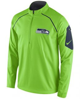 Nike Mens Seattle Seahawks Alpha Fly Rush Quarter Zip Jacket   Sports