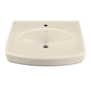 KOHLER Pinoir 22 in. Wall Mount Vitreous China Sink Basin in Almond with Overflow Drain K 2028 1 47
