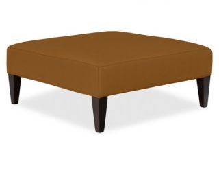 Fairfax Large Ottoman, Tapered Leg with Smooth Top