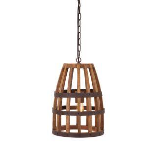 Foley Wood Cage Pendant Light   17638512   Shopping