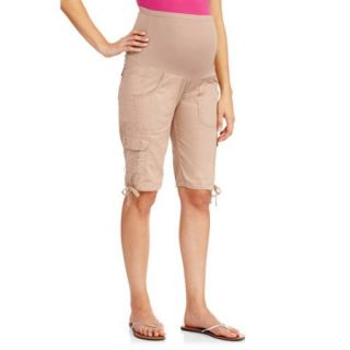 "Oh! Mamma Maternity Full Panel 11"" Cargo Bermuda Shorts"