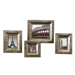 Uttermost 18516 Camber Photo Frame in Champagne Silver Set of 4